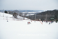 63885-00310 Skiiers at Chestnut Mountain Resort Galena   IL