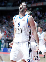 Real Madrid's Felipe Reyes celebrates during Euroleague 2012/2013 match.January 11,2013. (ALTERPHOTOS/Acero) /NortePhoto