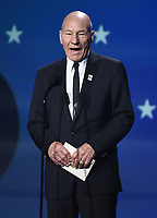 SANTA MONICA, CA - JANUARY 11: Sir Patrick Stewart  at the 23rd Annual Critics' Choice Movie Awards at Barker Hangar on January 11, 2018 in Santa Monica, California. (Photo by Frank Micelotta/PictureGroup)