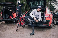 Greg Van Avermaet (BEL/BMC) during reconnaissance of the 12th Strade Bianche 2018
