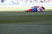 Atletico de Madrid's Radamel Falcao injured during La Liga match.April 14,2013. (ALTERPHOTOS/Acero)