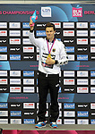 21.08.2014, Sprung und Schwimmhalle, Berlin, GER, 32. LEN European Swimming Championschip 2014, Springen, , im Bild 3m Brett, Europameister, Patrick Hausding<br /> <br />               <br /> Foto © nordphoto /  Engler