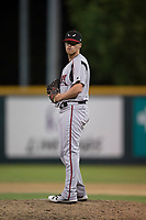Lake Elsinore Storm relief pitcher Blake Rogers (18) prepares to deliver a pitch during a California League game against the Modesto Nuts at John Thurman Field on May 11, 2018 in Modesto, California. Modesto defeated Lake Elsinore 3-1. (Zachary Lucy/Four Seam Images)