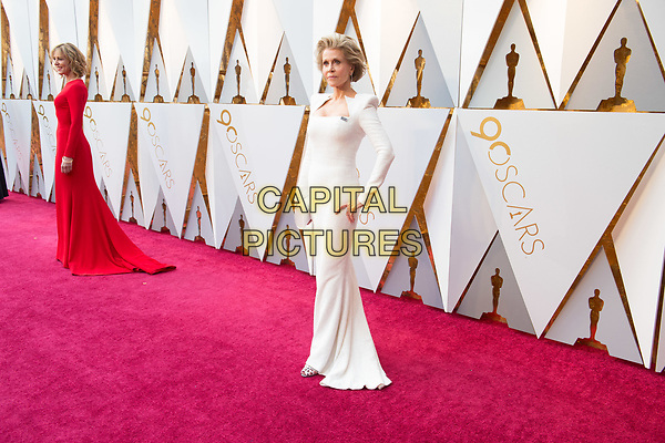 Christine Lahti and Jane Fonda arrives on the red carpet of The 90th Oscars&reg; at the Dolby&reg; Theatre in Hollywood, CA on Sunday, March 4, 2018.<br /> *Editorial Use Only*<br /> CAP/PLF/AMPAS<br /> Supplied by Capital Pictures