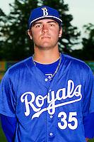 Cameron Gallagher #35 of the Burlington Royals at Burlington Athletic Park on June 15, 2012 in Burlington, North Carolina.  (Brian Westerholt/Four Seam Images)