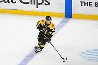 June 6, 2019: Boston Bruins defenseman Torey Krug (47) in game action during game 5 of the NHL Stanley Cup Finals between the St Louis Blues and the Boston Bruins held at TD Garden, in Boston, Mass. The Blues defeat the Bruins 2-1 in regulation time. Eric Canha/CSM