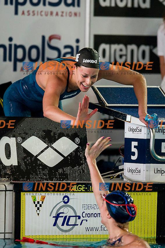 Federica Pellegrini C.C. Aniene<br /> Day02 4X100 Stile Libero Donne<br /> Campionati Italiani Assoluti Nuoto Invernali Open Fin<br /> Riccione Italy 18-19/12/2015<br /> Photo Andrea Masini/Deepbluemedia/Insidefoto