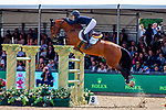 Day 5. Royal Windsor Horse Show. Windsor. Berkshire. UK.Rolex Grand Prix.CSI5*. Janika Sprunger riding Bacardi VDL. SUI.13/05/2018. ~ MANDATORY Credit Elli  Birch/Sportinpictures - NO UNAUTHORISED USE - 07837 394578