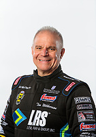Feb 6, 2019; Pomona, CA, USA; NHRA funny car driver Tim Wilkerson poses for a portrait during NHRA Media Day at the NHRA Museum. Mandatory Credit: Mark J. Rebilas-USA TODAY Sports