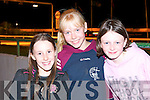 FUN TIME: Enjoying the fun at Laune Rangers Night at the Dogs at the Kingdom Greyhound Stadium on Saturday l-r: Holly Blennerhassett, Ballyseedy, Shauna Lane, Brosna and Megan Horgan, Abbeydorney.   Copyright Kerry's Eye 2008