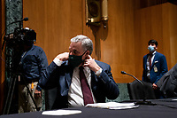 United States Senator Richard Burr (Republican of North Carolina) arrives to his seat ahead of  a Senate Finance Committee hearing about the 2020 Filing Season and IRS COVID-19 Recovery at the U.S. Capitol in Washington DC on June 30th, 2020.<br /> Credit: Anna Moneymaker / Pool via CNP /MediaPunch