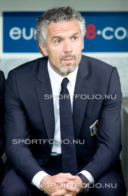 Zwitserland, Bern, 9 juni 2008.Euro 2008, EK 2008.Groep C.Nederland-Italie (3-0).Roberto Donadoni trainer-coach van Italie