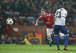 Juan Mata of Manchester United (L) is tackled by Eder Alvarez Balanta of Basel during the Champions League Group A match at the Old Trafford Stadium, Manchester. Picture date: September 12th 2017. Picture credit should read: Andrew Yates/Sportimage