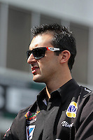 May 11, 2013; Commerce, GA, USA: NHRA pro stock driver Vincent Nobile during the Southern Nationals at Atlanta Dragway. Mandatory Credit: Mark J. Rebilas-
