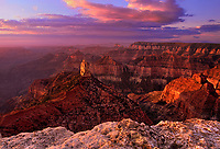 749220154 sunrise lights up the mount hayden monolith at point imperial on the north rim of grand canyon national park arizona