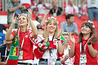 Polnische Fans machen Stimmung - 19.06.2018: Polen vs. Senegal, Gruppe H, Spartak Stadium Moskau