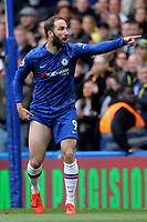 Gonzalo Higuain of Chelsea during Chelsea vs Watford, Premier League Football at Stamford Bridge on 5th May 2019