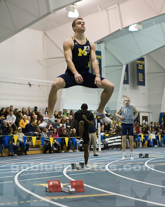 University of Michigan Men's Track and Field host. Day 2 of the Simmons /  Harvey Invite at the UM Indoor Track and Field Building on 1/ 23 / 10