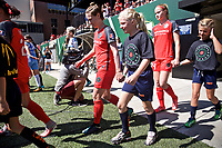 Portland, OR - Saturday August 05, 2017: Meghan Klingenberg before a regular season National Women's Soccer League (NWSL) match between the Portland Thorns FC and the Houston Dash at Providence Park.