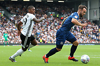 Blackburn Rovers' Adam Armstrong gets away from Fulham's Ivan Cavaleiro<br /> <br /> Photographer David Shipman/CameraSport<br /> <br /> The EFL Sky Bet Championship - Fulham v Blackburn Rovers - Saturday 10th August 2019 - Craven Cottage - London<br /> <br /> World Copyright © 2019 CameraSport. All rights reserved. 43 Linden Ave. Countesthorpe. Leicester. England. LE8 5PG - Tel: +44 (0) 116 277 4147 - admin@camerasport.com - www.camerasport.com