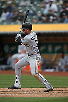 OAKLAND, CA - APRIL 18:  Nicky Delmonico #30 of the Chicago White Sox bats against the Oakland Athletics during the game at the Oakland Coliseum on Wednesday, April 18, 2018 in Oakland, California. (Photo by Brad Mangin)