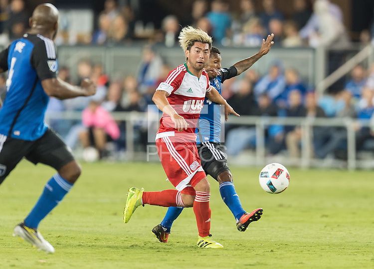 San Jose, Ca - August 24, 2016: The San Jose Earthquakes vs the New England Revolution at Avaya Stadium. Final score: San Jose 0, New England 0.