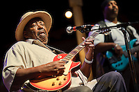 Magic Slim and the Teardrops perfoming at Big Muddy Blues Festival at Laclede's Landing in downtown St. Louis, MO on Sept 5, 2010.