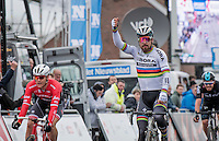 Peter Sagan (SVK/Bora-Hansgrohe) wins the 69th Kuurne-Brussel-Kuurne 2017 (1.HC) in an elite sprint