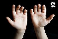 Girl's (10-12) hands, close up (digital composite) (Licence this image exclusively with Getty: http://www.gettyimages.com/detail/200437372-001 )