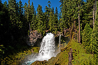 A view of Sahalie Falls in the summer, Oregon.