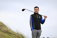 Jamie Sutherland (Galgorm Castle) on the 16th tee during Round 2 of The East of Ireland Amateur Open Championship in Co. Louth Golf Club, Baltray on Sunday 2nd June 2019.<br /> <br /> Picture:  Thos Caffrey / www.golffile.ie<br /> <br /> All photos usage must carry mandatory copyright credit (© Golffile | Thos Caffrey)