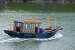 Floating village in Halong Bay