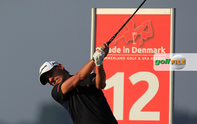 Joakim Lagergren (SWE) on the 12th tee during Round 1 of the Made in Denmark 2016 at the Himmerland Golf Resort, Farso, Denmark on Thursday 25th August 2016.<br /> Picture:  Thos Caffrey / www.golffile.ie<br /> <br /> All photos usage must carry mandatory copyright credit   (&copy; Golffile | Thos Caffrey)