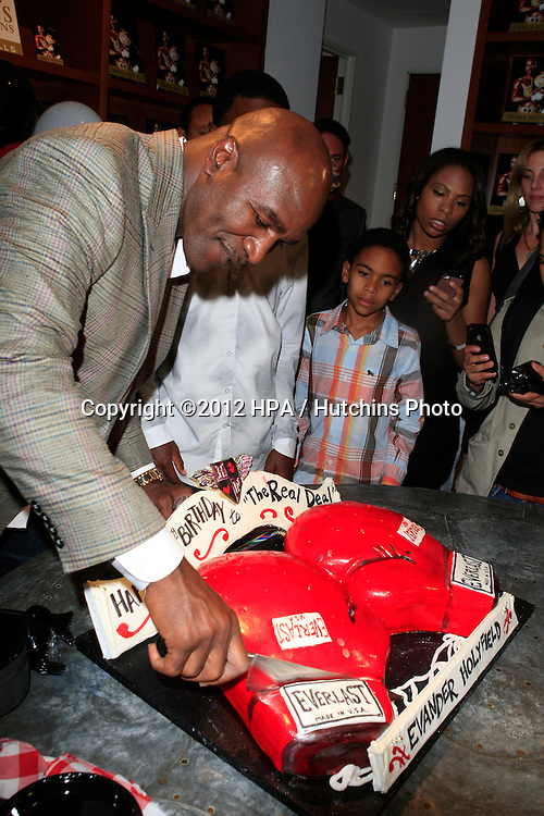LOS ANGELES - OCT 19:  Evander Holyfield attends  the 50th Birthday Party for Evander Holyfield  at Julians Auctions on October 19, 2012 in Beverly Hills, CA
