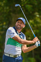 Sergio Garcia (ESP) watches his tee shot on 3 during Round 1 of the Zurich Classic of New Orl, TPC Louisiana, Avondale, Louisiana, USA. 4/26/2018.<br /> Picture: Golffile | Ken Murray<br /> <br /> <br /> All photo usage must carry mandatory copyright credit (&copy; Golffile | Ken Murray)