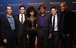 Christopher Demos-Brown, Steven Pasquale, Kerry Washington, Eugene Lee, Jeremy Jordan and Kenny Leon attend the Broadway Opening Night After Party for 'AMERICAN SON' at Brasserie 8 1/2 on November 4, 2018 in New York City.