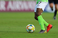 01th November 2019; Bezerrao Stadium, Brasilia, Distrito Federal, Brazil; FIFA U-17 World Cup Brazil 2019, Australia versus Nigeria; Detail of Nigerian player Olakunle Olusegun wearing different football boots - Editorial Use
