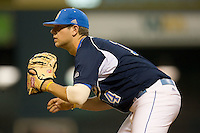 Casey Haerther #14 of the UCLA Bruins on defense versus the Baylor Bears  in the 2009 Houston College Classic at Minute Maid Park February 28, 2009 in Houston, TX.  The Bears defeated the Bruins 5-1. (Photo by Brian Westerholt / Four Seam Images)