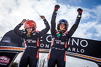 26th January 2020, Monaco, Monte Carlo;  NEUVILLE Thierry (BEL), GILSOUL Nicolas (BEL), Hyundai i20 Coupe WRC, Hyundai Shell Mobis WRT winner after the 2020 WRC World Rally Car Championship, Monte Carlo rally