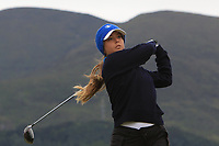 Angelica Moresco (ITA) on the 2nd tee during Round 2 of the Women's Amateur Championship at Royal County Down Golf Club in Newcastle Co. Down on Wednesday 12th June 2019.<br /> Picture:  Thos Caffrey / www.golffile.ie