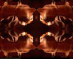 Fractal Cross, Fractal Composite, Upper Antelope Canyon, Tse-Bighanilini, Slot Canyon, Lake Powell Navajo Tribal Park, Page, Arizona