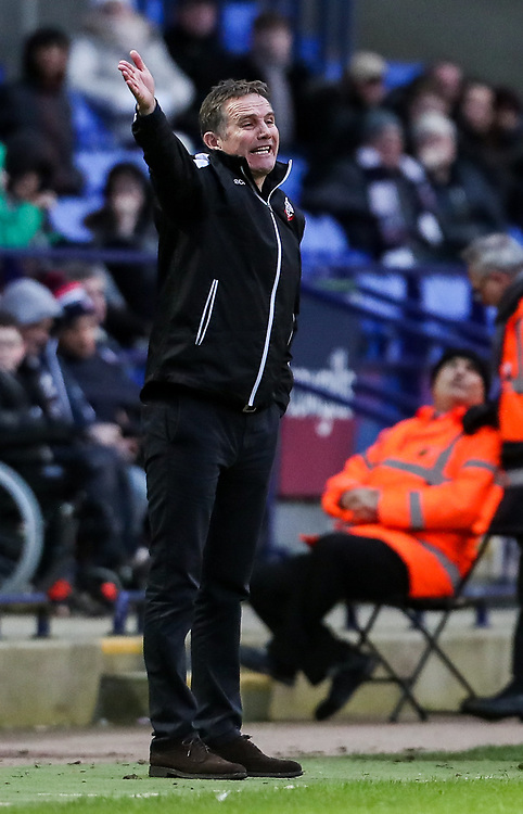 Bolton Wanderers' manager Phil Parkinson <br /> <br /> Photographer Andrew Kearns/CameraSport<br /> <br /> The EFL Sky Bet Championship - Bolton Wanderers v Preston North End - Saturday 9th February 2019 - University of Bolton Stadium - Bolton<br /> <br /> World Copyright &copy; 2019 CameraSport. All rights reserved. 43 Linden Ave. Countesthorpe. Leicester. England. LE8 5PG - Tel: +44 (0) 116 277 4147 - admin@camerasport.com - www.camerasport.com
