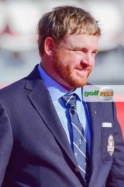 J.B. Holmes (USA) during the Opening Ceremony at the Ryder Cup, Hazeltine National Golf Club, Chaska, Minnesota, USA.  9/29/2016<br /> Picture: Golffile | Ken Murray<br /> <br /> <br /> All photo usage must carry mandatory copyright credit (&copy; Golffile | Ken Murray)