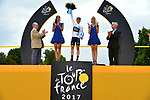 Simon Yates (GBR) Orica-Scott wins the young riders White Jersey at the end of Stage 21 of the 104th edition of the Tour de France 2017, an individual time trial running 1.3km from Montgeron to Paris Champs-Elysees, France. 23rd July 2017.<br /> Picture: ASO/Pauline Ballet | Cyclefile<br /> <br /> <br /> All photos usage must carry mandatory copyright credit (&copy; Cyclefile | ASO/Pauline Ballet)
