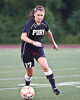 New York Fury midfielder Sinead Farrelly (17) dribbles the ball.  The Boston Breakers beat the New York Fury 2-0 at Dilboy Stadium