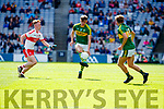 David Clifford Kerry in action against Martin Bradley Derry in the All-Ireland Minor Footballl Final in Croke Park on Sunday.