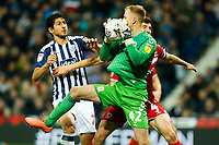 29th December 2019; The Hawthorns, West Bromwich, West Midlands, England; English Championship Football, West Bromwich Albion versus Middlesbrough; Aynsley Pears of Middlesbrough takes a corner - Strictly Editorial Use Only. No use with unauthorized audio, video, data, fixture lists, club/league logos or 'live' services. Online in-match use limited to 120 images, no video emulation. No use in betting, games or single club/league/player publications