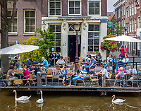 Niederlande, Nordholland, Amsterdam: Cafe 't Smalle an der Egelantiersgracht | Netherlands, North Holland, Amsterdam: Cafe 't Smalle on Egelantiersgracht canal