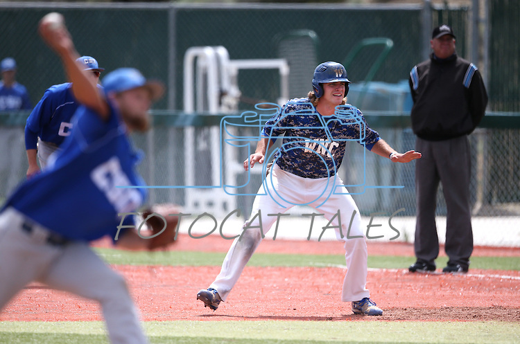 Western Nevada's D.J. Peters runs the bases against College of Southern Nevada at Western Nevada College in Carson City, Nev. on Friday, May 6, 2016. <br />Photo by Cathleen Allison/Nevada Photo Source