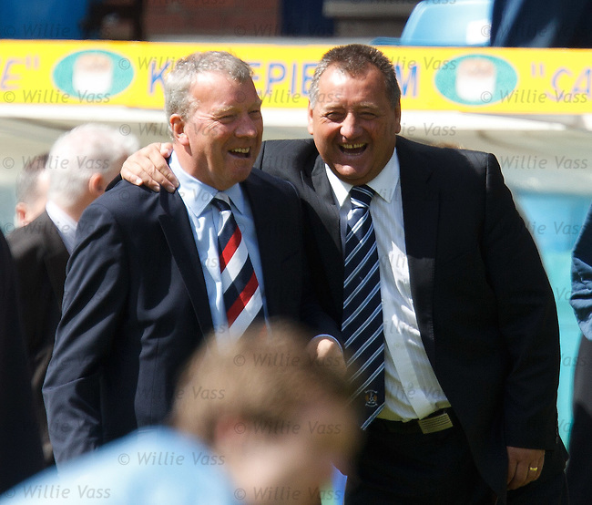 Alex Smith and Jimmy Calderwood still find time to share a laugh